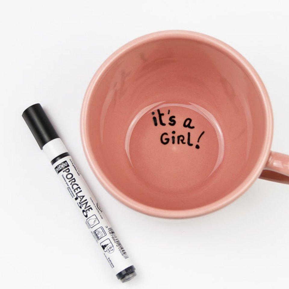 Stylo feutre porcelaine d 39 annonce de grossesse - Stylo pour porcelaine ...