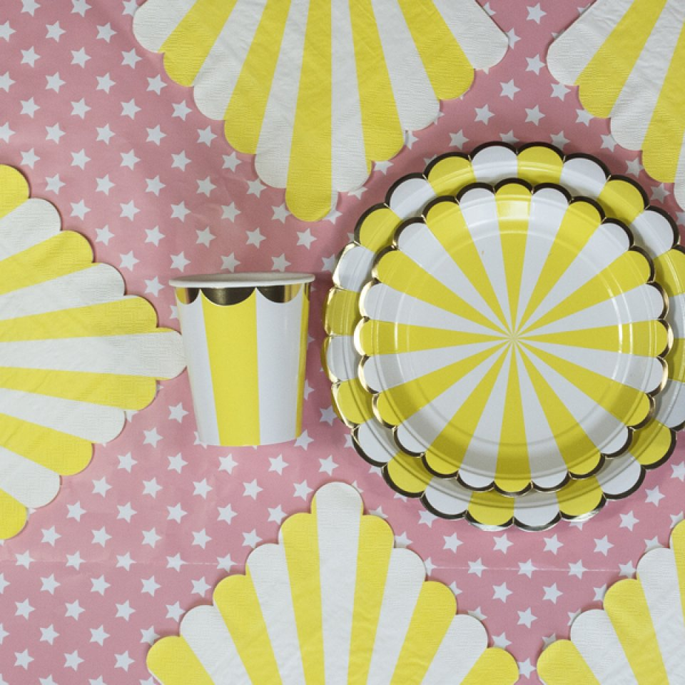 Baby shower box coloris yellow 6/8 pers.