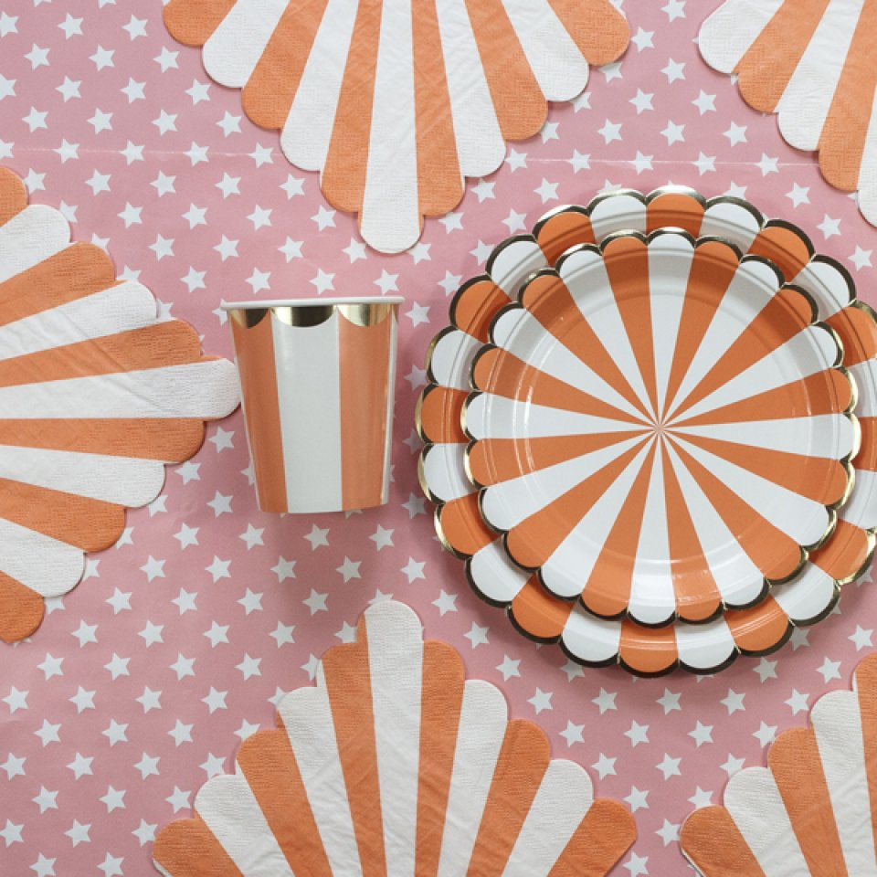 Baby shower box coloris orange 12/14 pers.