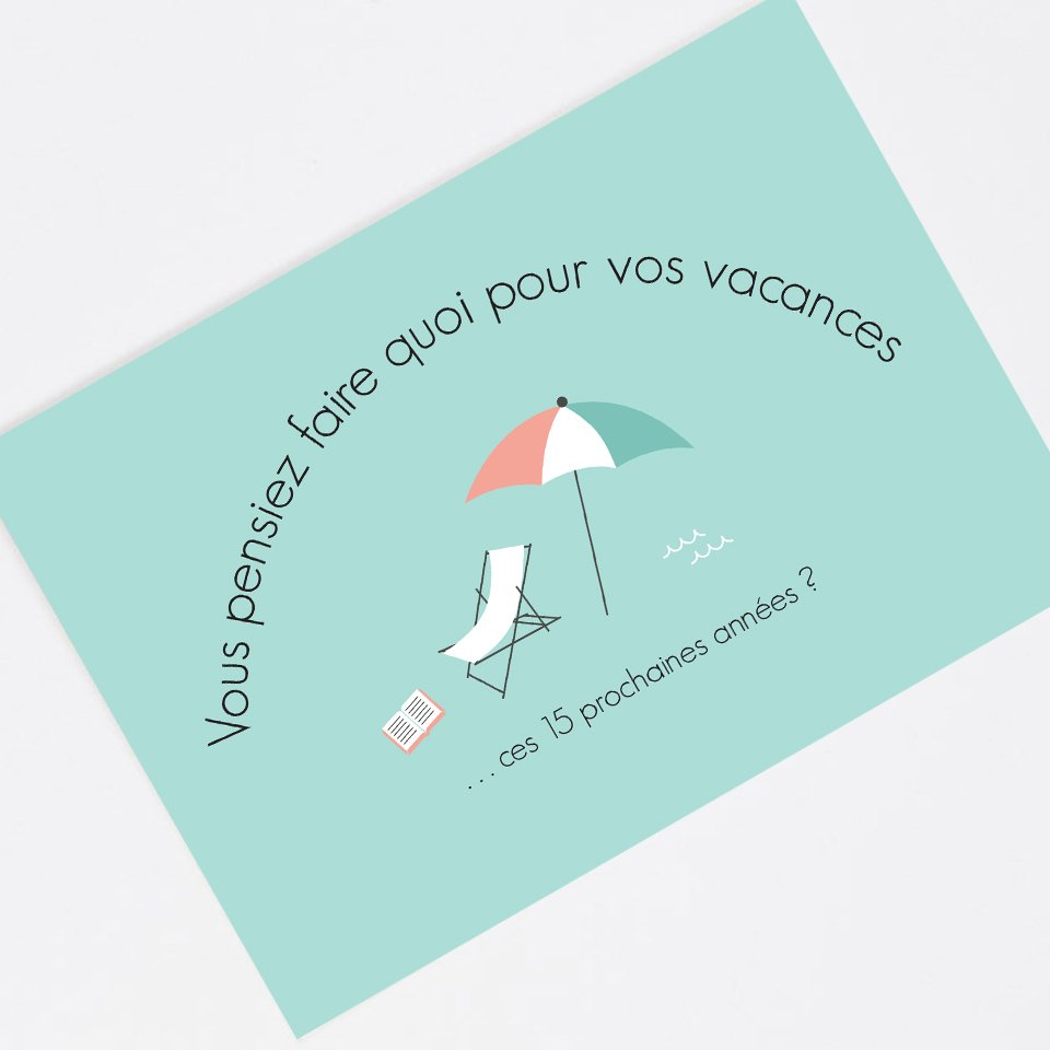 The holidays announcement card - In French