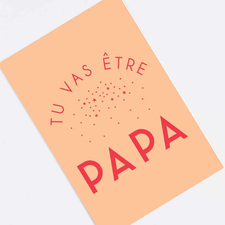 """You're Gonna Be A Dad"" announcement card - In French"
