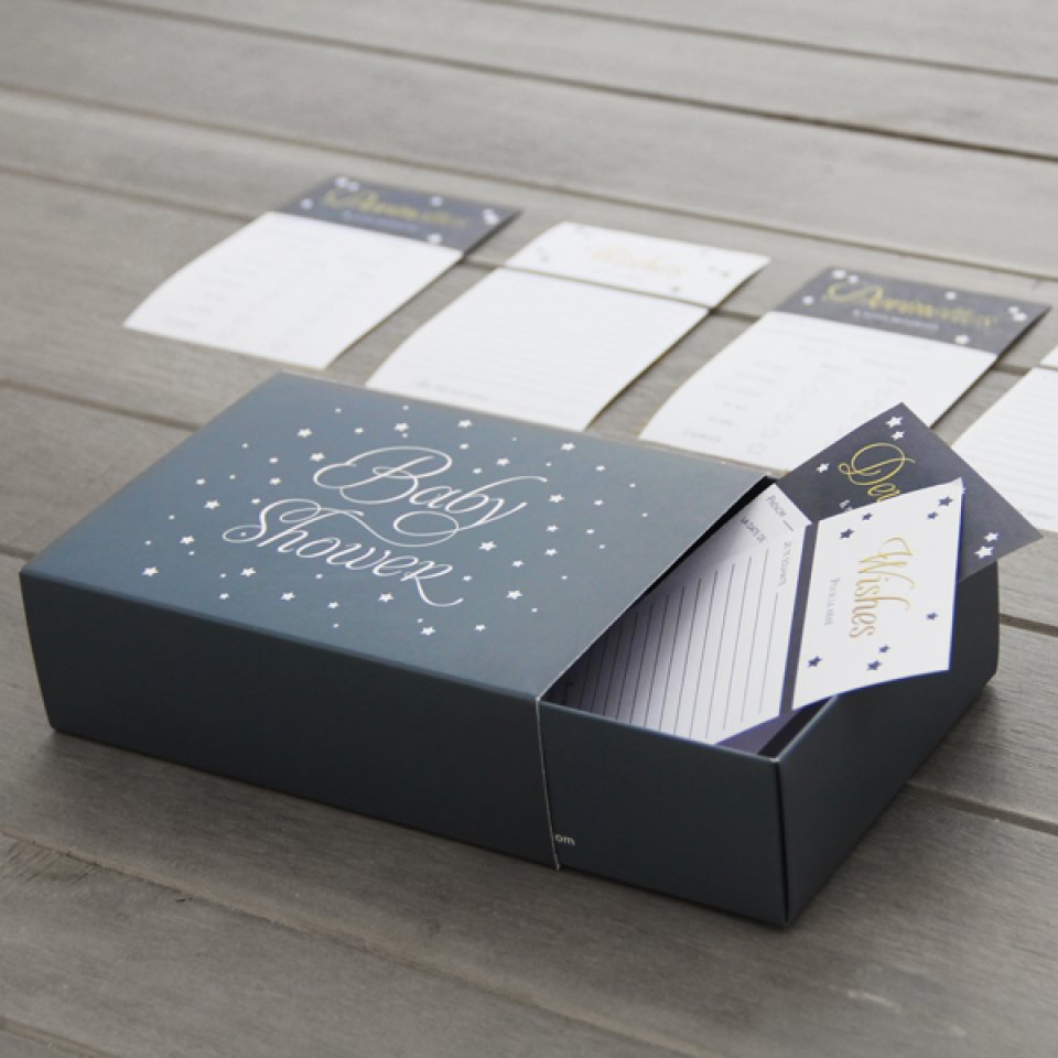 Baby shower box coloris aqua 12/14 pers.