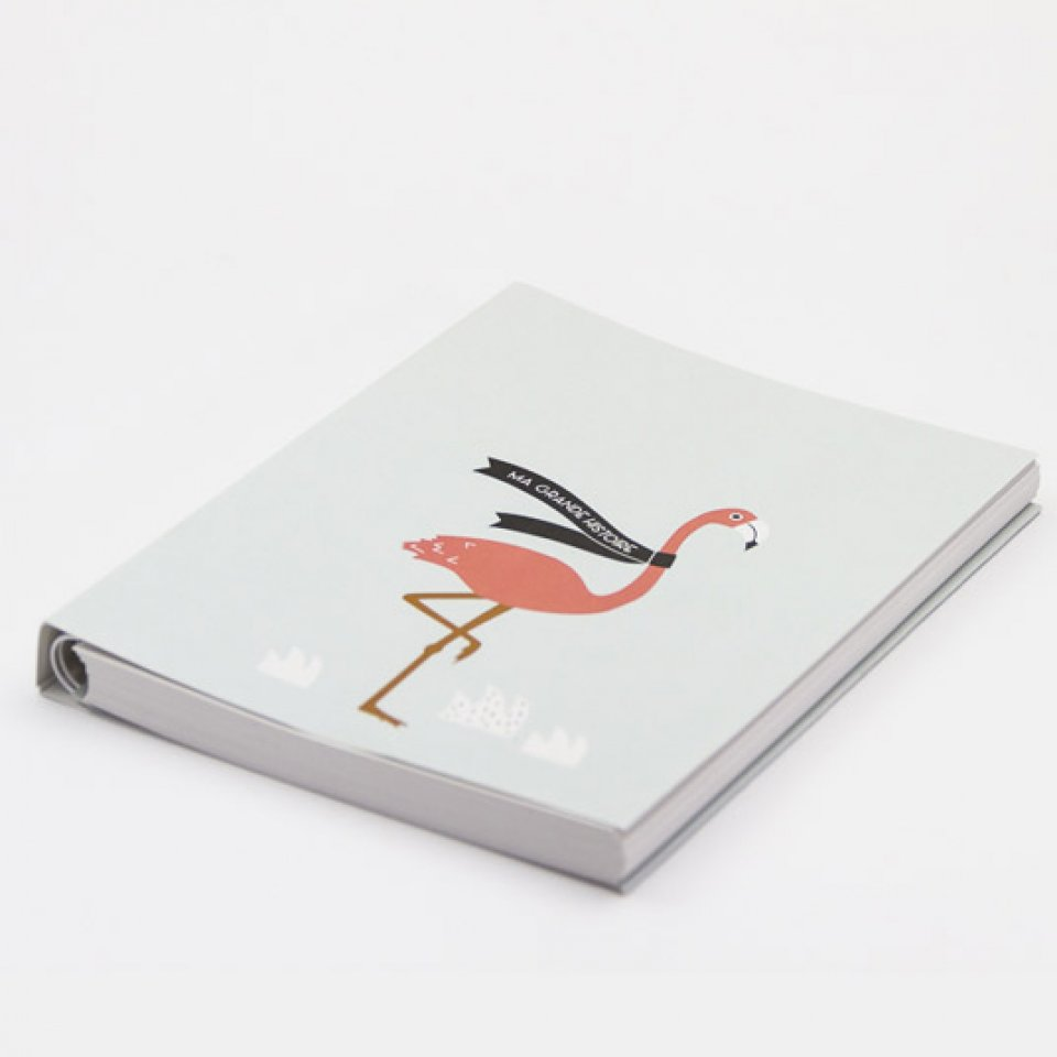 Baby book - Pink Flamingo